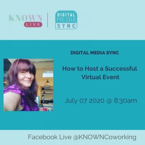 How to host a successful virtual live event on digital media sync with giulia gouge